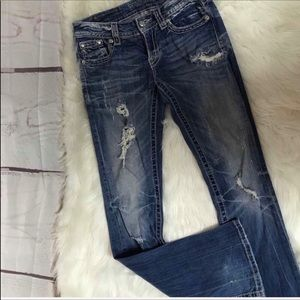 Miss Me Bootcut Jeans  With Cross Pockets Size 28